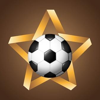 Fußballdesign über brauner hintergrundvektorillustration