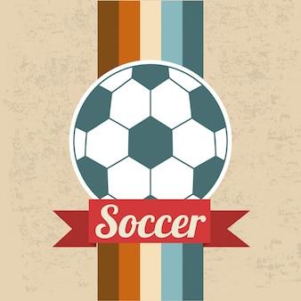 Fußballdesign über musterhintergrund-vektorillustration