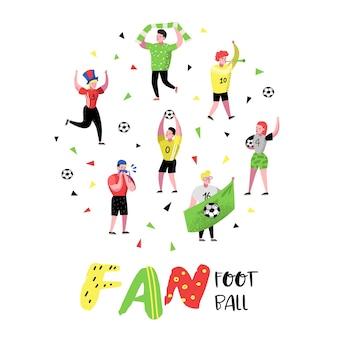 Fußballfans feiern den sieg