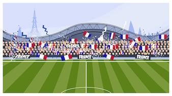 Fußballfans Illustration