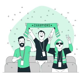 Fußballfans-konzeptillustration