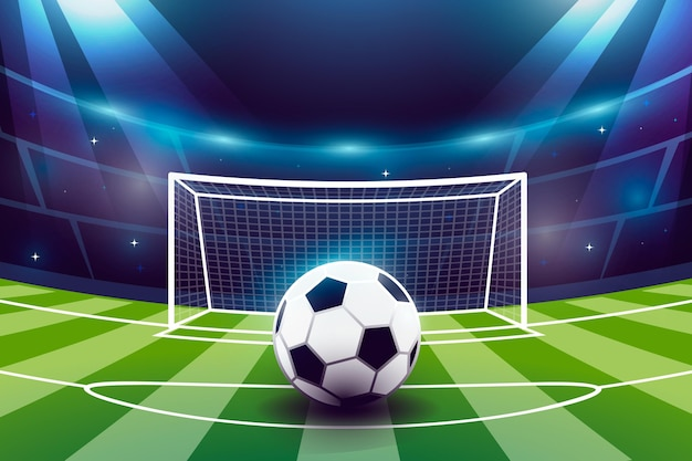 Fußballfeldhintergrund mit farbverlauf