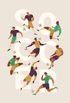 Fußballfußballspieler eingestellt