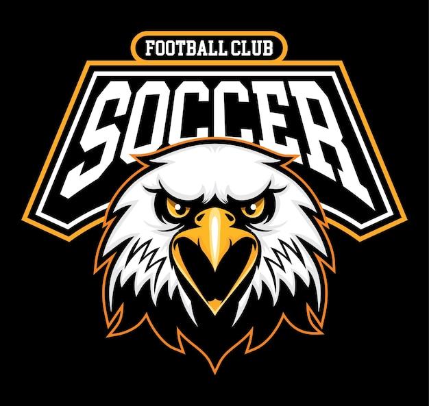 Fußballfußballzeichen mit adler