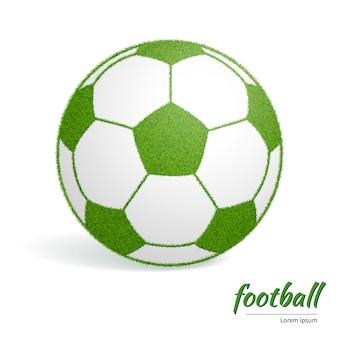 Fußballgrün mit grasbeschaffenheit