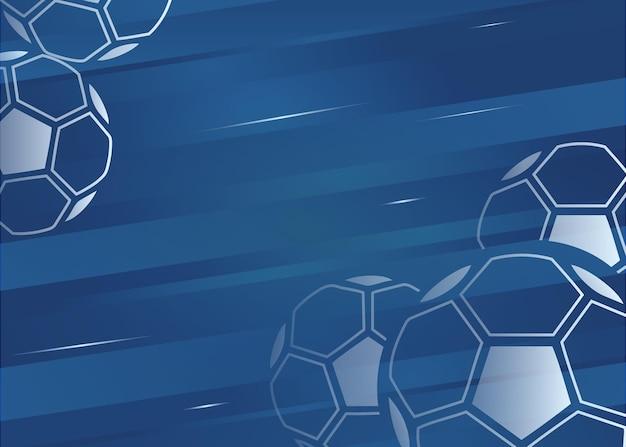 Fußballhintergrund mit dynamischem farbverlauf