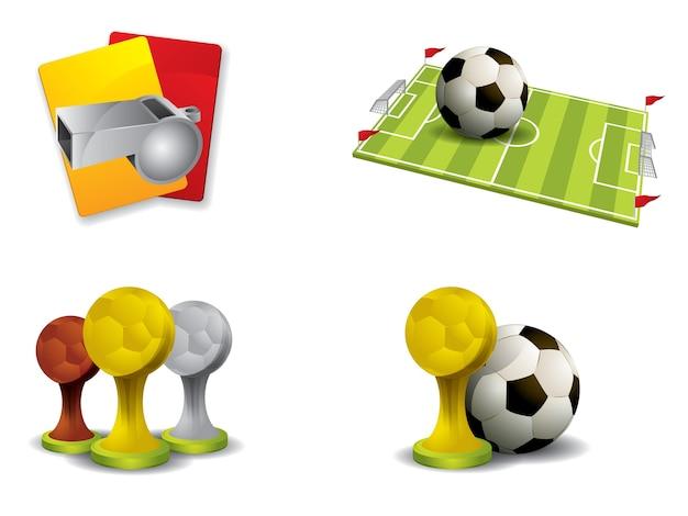 Fußballikone eingestellter vektor