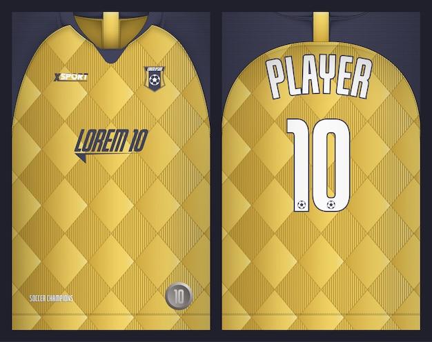 Fußballjersey-schablonensport-t-shirt design