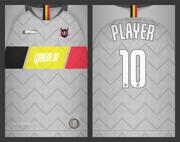 Fußballjersey-schablonensport-t-shirt design