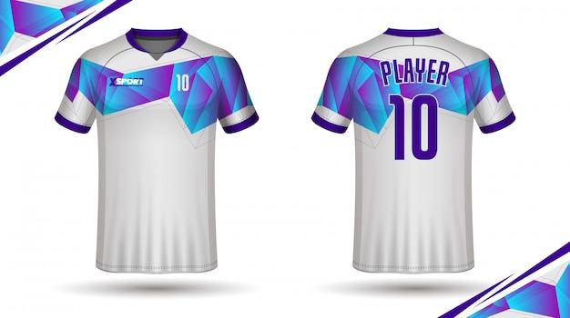 Fußballjersey-schablonensportt-shirt