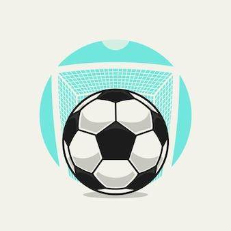Fußballkarikatur im tor