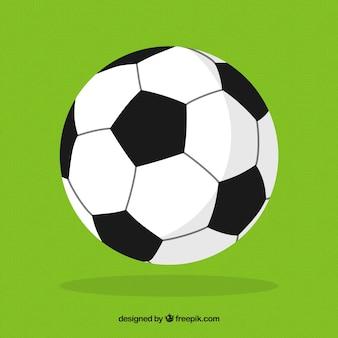 Fußballkugelhintergrund in der flachen art