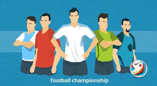 Fußballmannschaft internationale meisterschaft