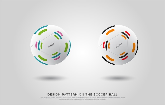 Fußballmuster auf dem fußball
