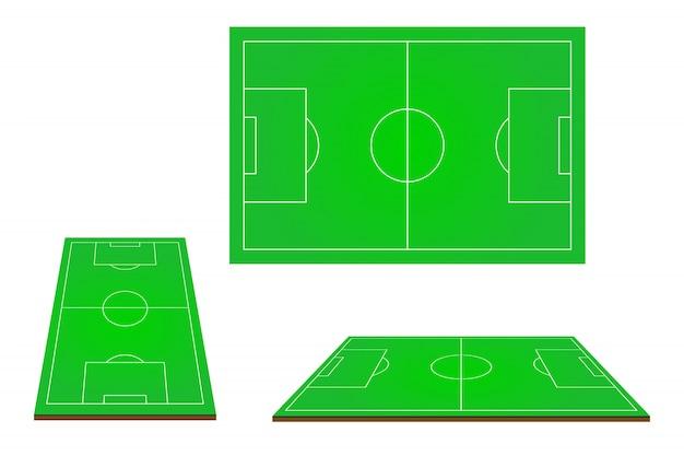 Fußballplatz des fußballs 3d