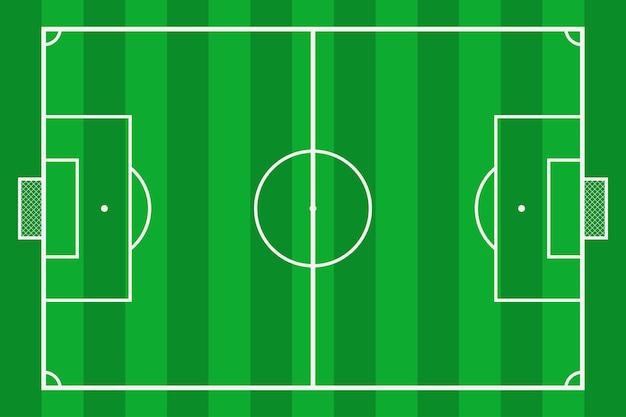 Fußballplatz fußballplatz mit grünem gras mockup-hintergrundfeld für sportstrategie und poster