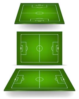 Fußballplatz mit perspektive.