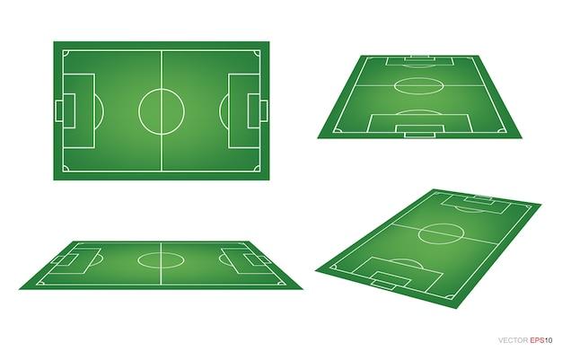 Fußballplatz oder fußballplatz.