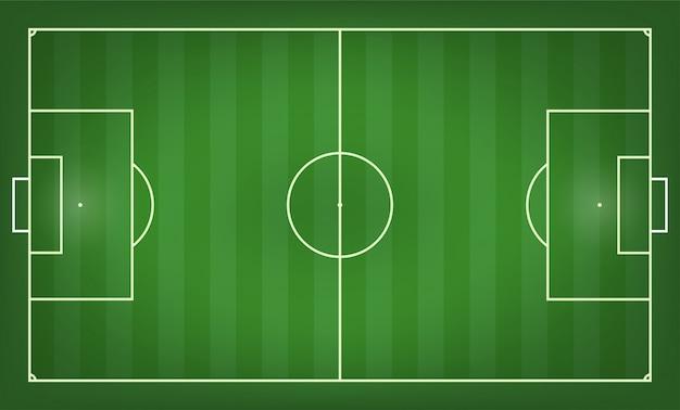 Fußballplatz-vektor-illustration. ansicht von oben