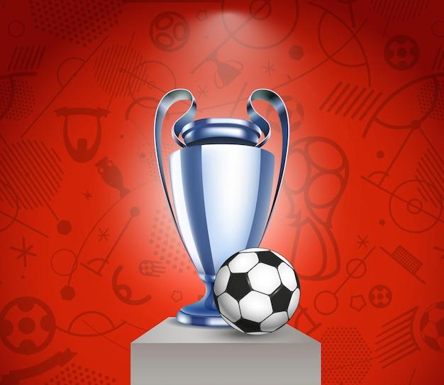 Fußballpokal und der ball