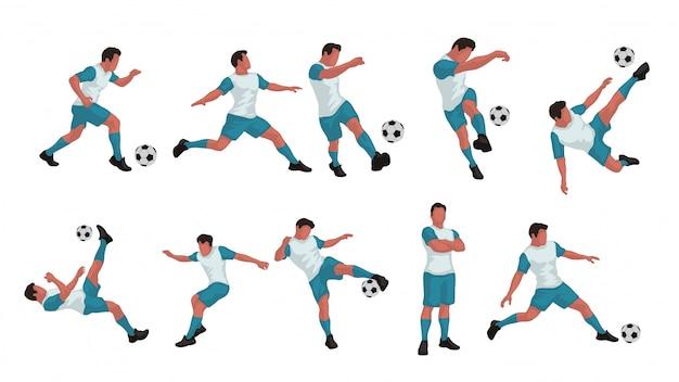 Fußballspieler farbiges set