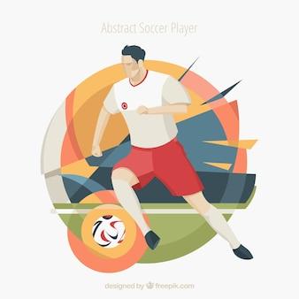 Fußballspieler in der abstrakten art