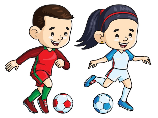 Fußballspieler kinder cartoon