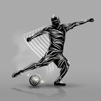 Fußballspieler-schwarz-stil