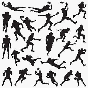Fußballspieler-silhouetten