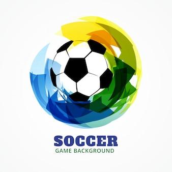 Fußballspielhintergrund des abstrakten stils