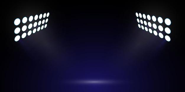 Fußballstadion lichter. bühnenscheinwerfer