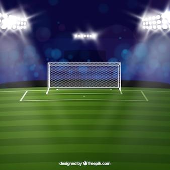 Fußballstadionhintergrund in der realistischen Art