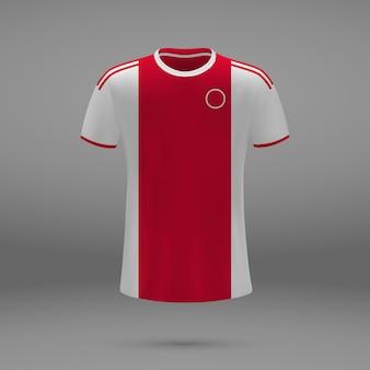 Fußballtrikot ajax, trikotvorlage für fußballtrikot