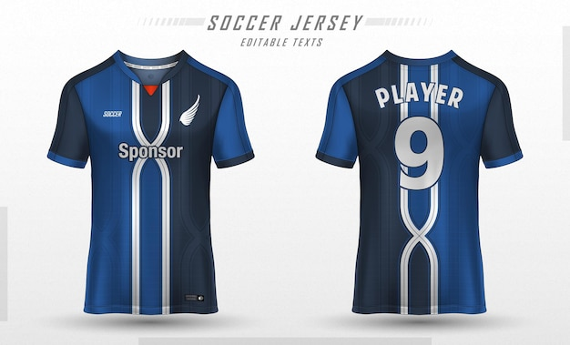 Fußballtrikot vorlage sport t-shirt design