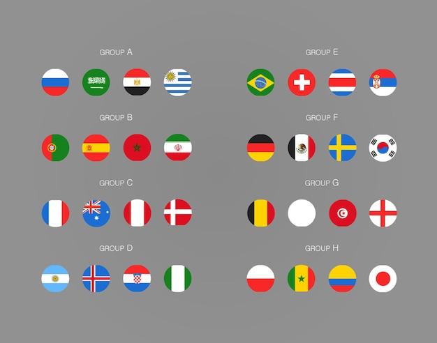 Fußballturnier schema. fußball infografik vorlage