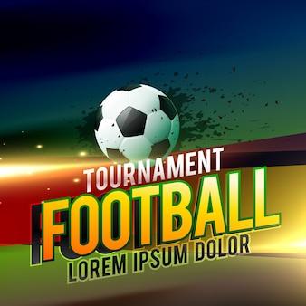 Fußballturnier vektor hintergrund design mit lichteffekten
