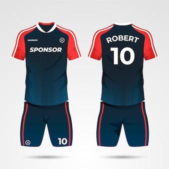 Fußballuniform-konzept