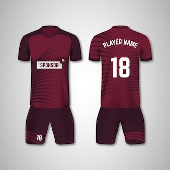 Fußballuniform vorder- und rückseite