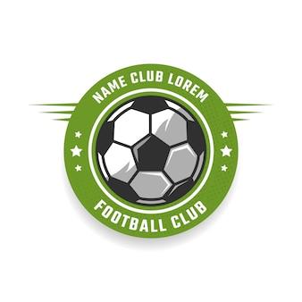 Fußballverein-emblem