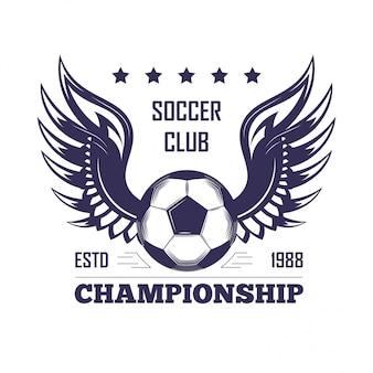 Fußballverein-meisterschaftsemblem