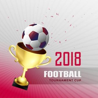 Fußballweltmeisterschafts-cuphintergrund 2018