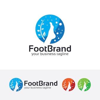 Fußbehandlung vektor logo vorlage