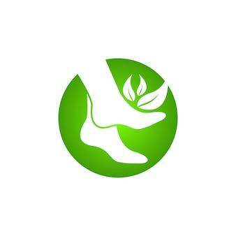 Fußpflege-gesundheitssymbol und symbolvektor