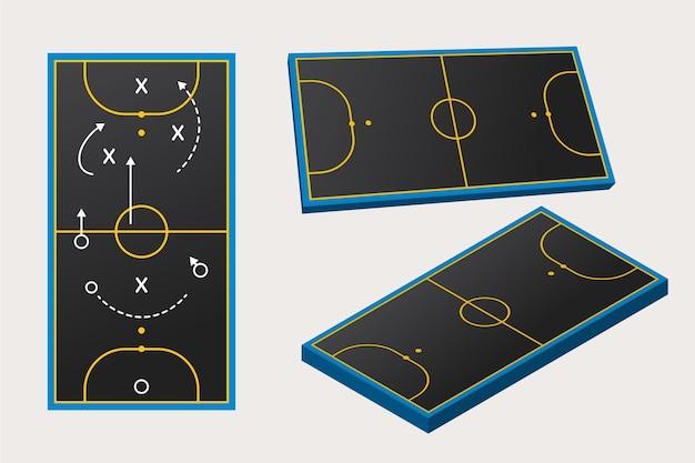 Futsalfeld aus verschiedenen perspektiven