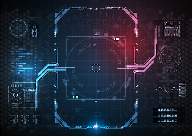 Futuristic game border und game interface digital