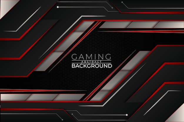 Futuristic gaming background red style