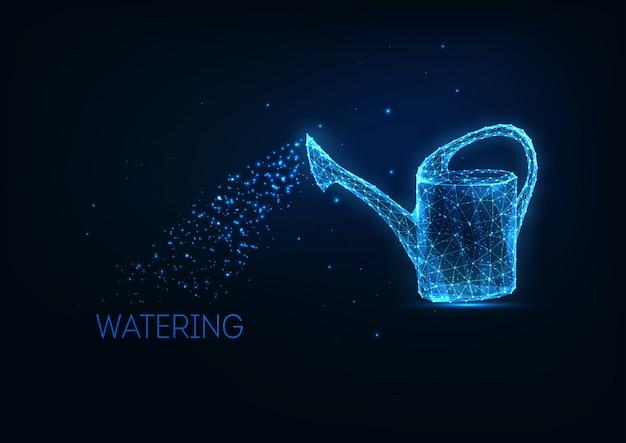 Futuristisch leuchtende niedrige polygonale bewässerung kann isoliert werden.