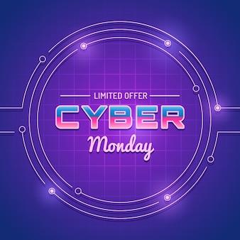 Futuristisch von der cyber-montag-förderung