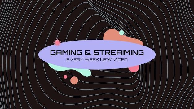 Futuristische abstrakte dampfende gaming-youtube-kanal-kunst