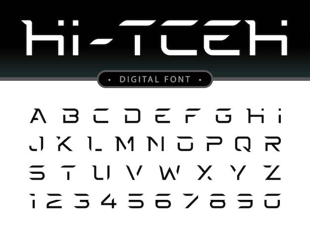 Futuristische alphabetbuchstaben